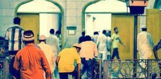 masuk masjid di hari Jumat