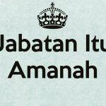pemimpin amanah