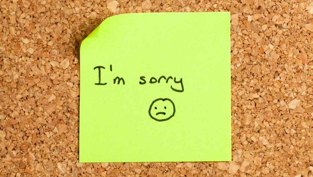 meminta maaf meskipun tak bersalah