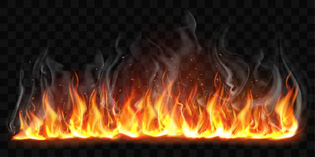 melihat api