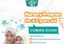 Program Nursery Alif Iqra