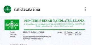 PBNU; Awal Puasa Ramadhan Selasa 13 April 2021